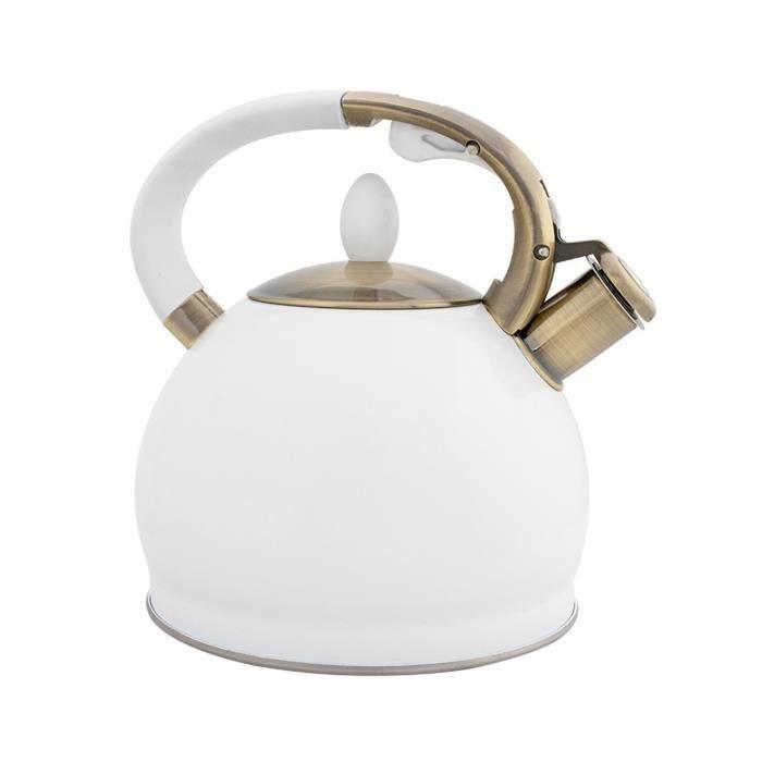 Carafes d'eau,Cuisinière Induction café sifflement automatique cuisinière haut cuisine batterie de cuisine bouteille - Type WHITE