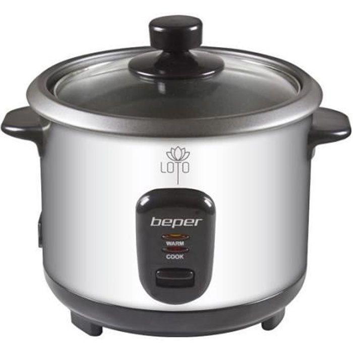 BEPER 90550 Cuiseur à riz et vapeur - Inox