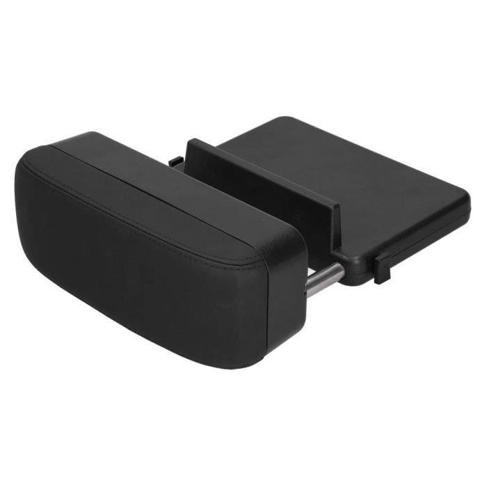 Fydun Boîte d'accoudoir Accoudoir de console centrale réglable Support coudé Boîte de rangement Chargeur de téléphone sans fil