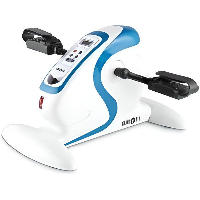 Klarfit Cycloony MiniBike Appareil d'entraînement 120 kg télécommande blanc/bleu