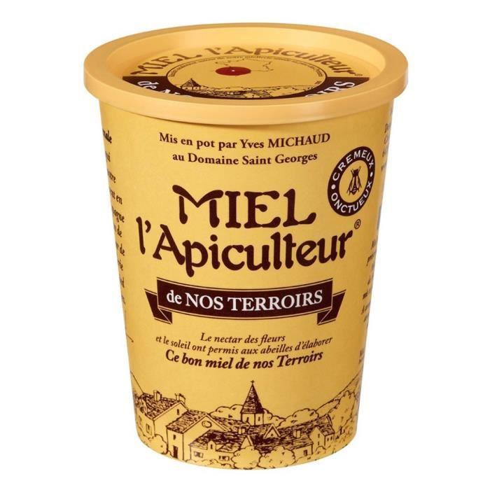 Miel l'Apiculteur de Nos Terroirs Crémeux Onctueux 500g (lot de 4)