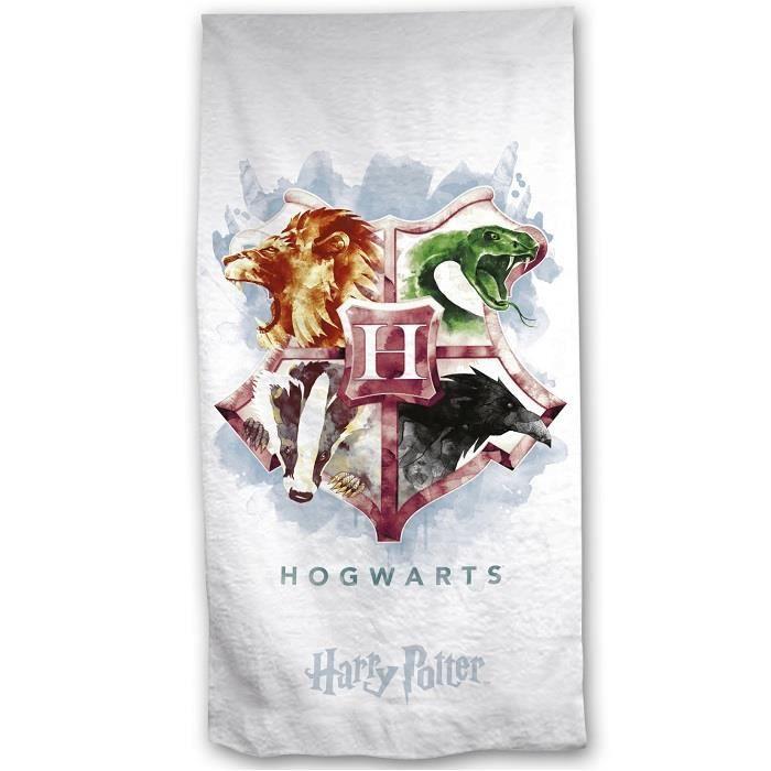 Serviette de plage Harry Potter Poudlard 70x140cm Coton