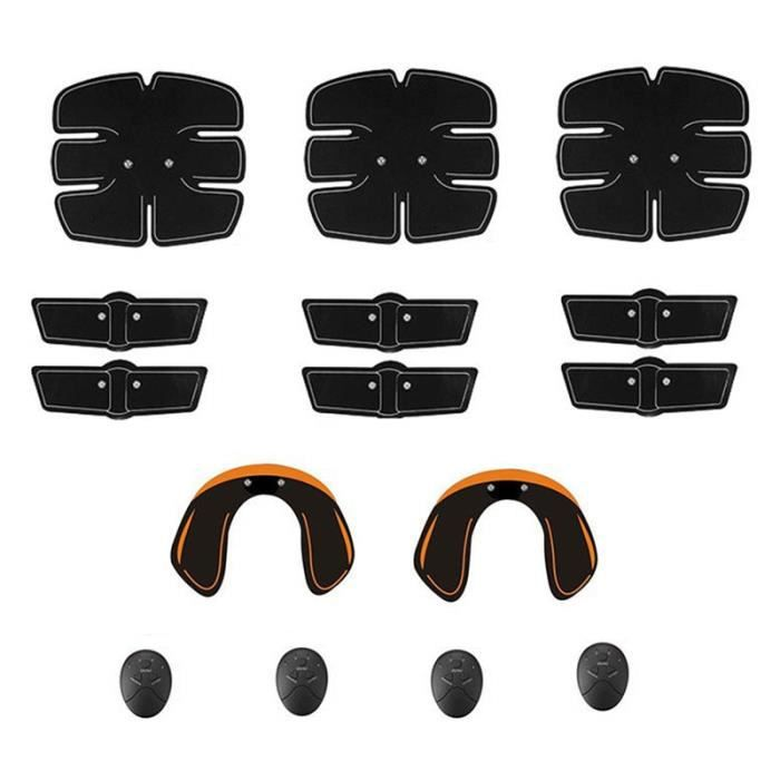 15 Pcs - Ensemble Ultimate Abs Muscle Stimulator Training Gear Hip Trainer Fit Full Body avec 6 Modes