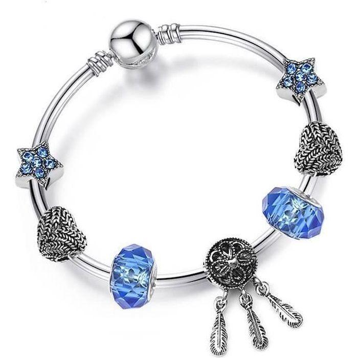 bracelet pandora plat