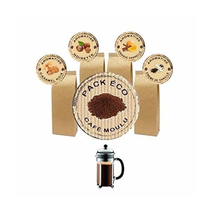 CAFÉ Pack Éco Café Moulu Aromatisé pour cafetière à Pis