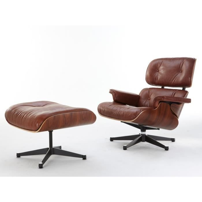 fauteuil lounge eames bois de rose achat vente fauteuil cdiscount. Black Bedroom Furniture Sets. Home Design Ideas