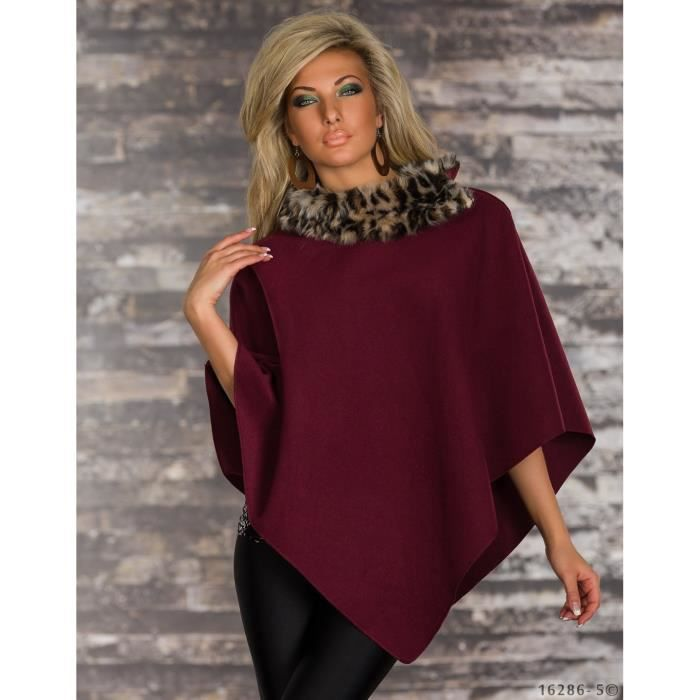 poncho cape veste femme bordeaux bordeaux achat vente imperm able trench poncho cape veste. Black Bedroom Furniture Sets. Home Design Ideas