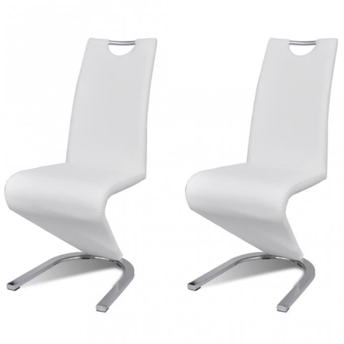 2 chaises de cuisine salon salle manger design contemporaines blanches 1902041 - Chaise Contemporaine Design