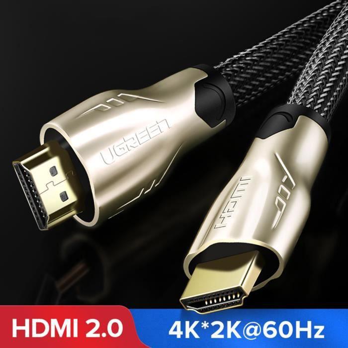CÂBLE TV - VIDÉO - SON Ototon® 10M Câble HDMI 2.0 en Nylon Tressé Ultra H