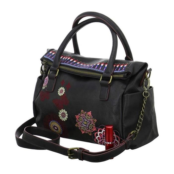 Sac à main Desigual Chandy Loverty marron avec broderie