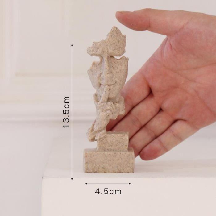 Garder Le Silence Creative Abstraite Visage Humain Figure Statues Sculptures
