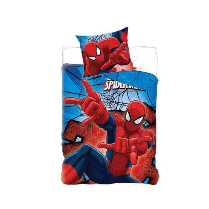 Parure housse de couette Spider-Man En coton