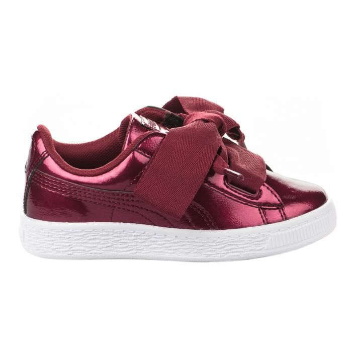 basket puma bordeaux fille