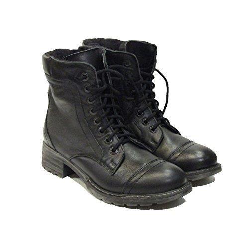 Misty 1184 Black Leather Boots B2EJR Taille-40 To7VHHRS