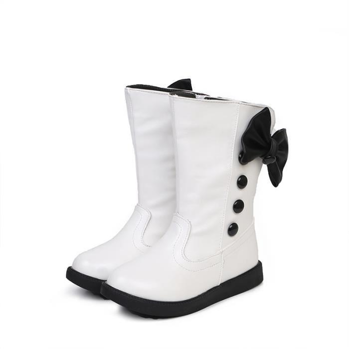 Bottes Chaussures filles Bottes en coton à talons hauts en hiver Chaussures princesse chaussures princesse