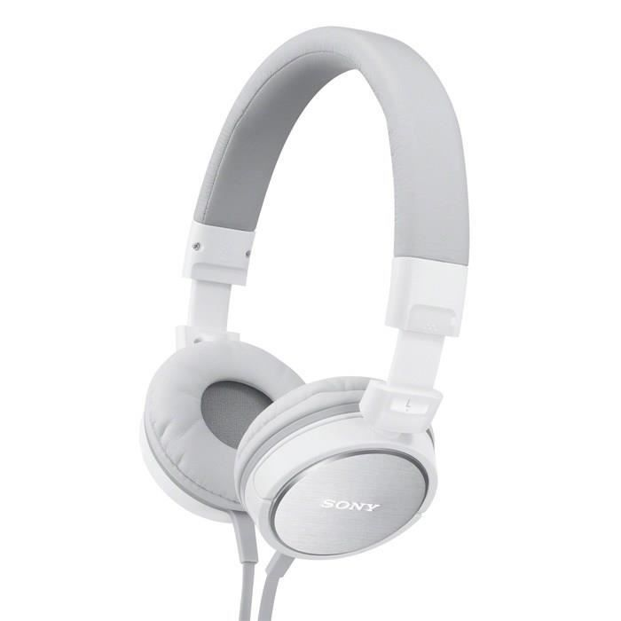 sony mdr zx600 casque audio arceau blanc casque. Black Bedroom Furniture Sets. Home Design Ideas