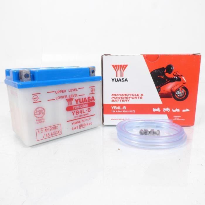 Batterie Moto yb4l-b gel 12 V PEUGEOT SPEEDFIGHT 50 2 AC DT IRON-X Année de construction 2007