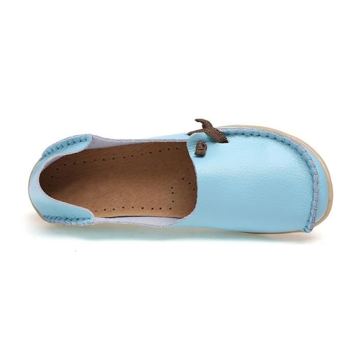 Comfort Walking Cute Flat Loafer ETEUX Taille-40