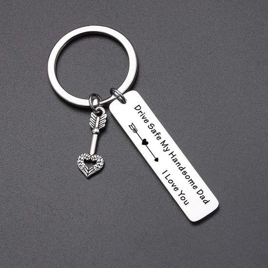 Conduisez prudemment Keychain Personnalisé Porte-clés Papa Mari et Meilleur Ami Cadeaux