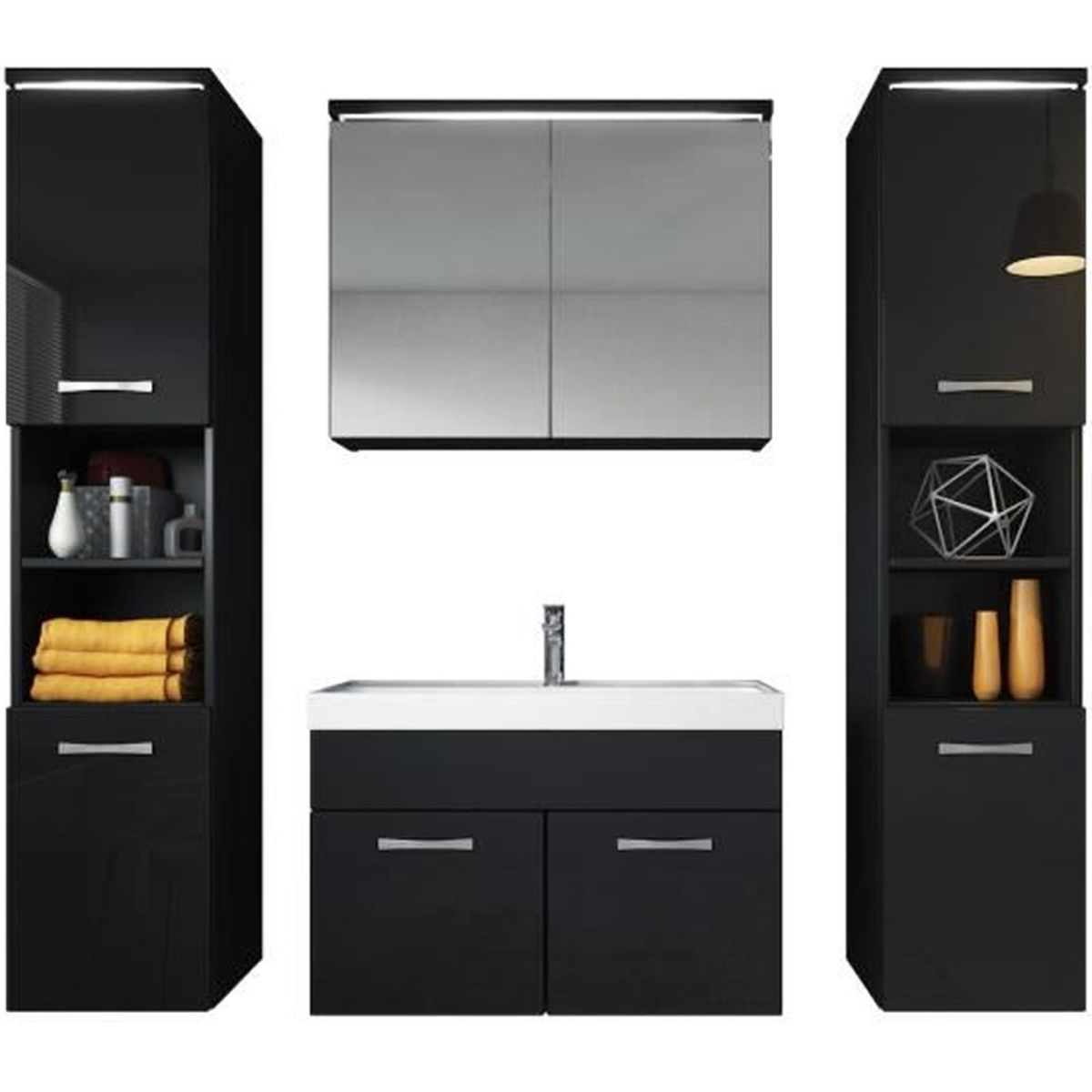 meuble de salle de bain paso xl armoire de rangement. Black Bedroom Furniture Sets. Home Design Ideas
