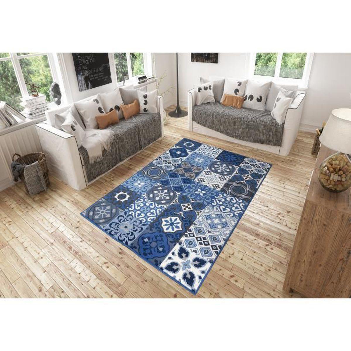 Tapis Effet Carreaux De Ciment tapis salon carreaux ciment