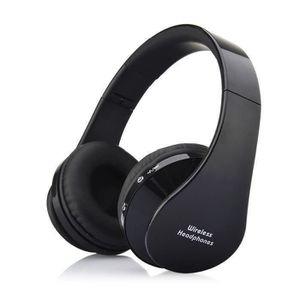 CASQUE - ÉCOUTEURS NX-8252 Casque stéréo sans fil Bluetooth V3.0 Noir