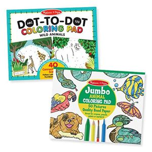 JEU DE COLORIAGE - DESSIN - POCHOIR Jeu De Coloriage CBAK4 Animal Coloring Pad 2 Pack