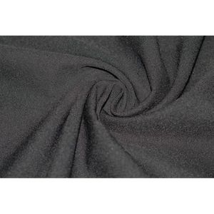 TISSU Tissu Burlington Uni Noir -Coupon de 3 mètres