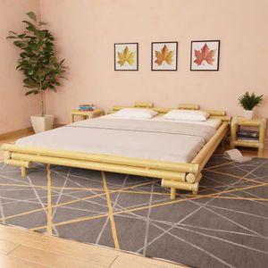 STRUCTURE DE LIT Lit en bambou 180 x 200 cm Naturel