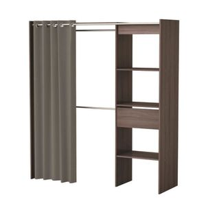 AMENAGEMENT DRESSING Dressing extensible 114-168x50x187 cm chocolat ave
