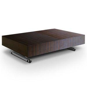 TABLE BASSE Table basse relevable Léoni Bois wenge