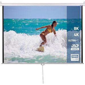 ECRAN DE PROJECTION Écran de Projection 113 Pouces 16: 9 HD 4K 3D Enro
