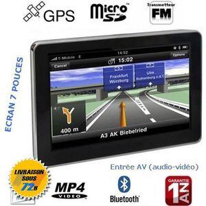 GPS AUTO AZTEK®GPS Bluetooth 7 pouces Système vocal Transme