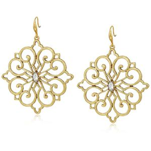 ESCARPIN Badgley Mischka Crystal Fillagree Drop Earrings U9