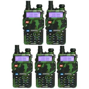 TALKIE-WALKIE 5 x Baofeng UV-5R Green vert VHF UHF FM Ham Radio