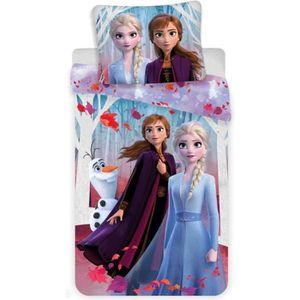 HOUSSE DE COUETTE ET TAIES Disney La Reine des Neiges 2 Parure de lit Housse