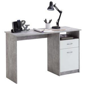 BUREAU  FMD Bureau avec 1 tiroir 123 x 50 x 76,5 cm Béton