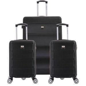 SET DE VALISES FRANCE BAG Set de  3 Valises ABS Noir
