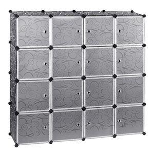 ARMOIRE DE CHAMBRE 16 Cubes Armoire Penderie Plastique Etagères Cabin