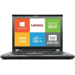 Top achat PC Portable Ordinateur portable Lenovo ThinkPad T420 Core I5  4go ram 240go SSD disque dur,windows10, pc portable reconditionné pas cher