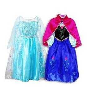 ROBE Deux Robe Elsa Anna Déguisement Reine Neiges Deux