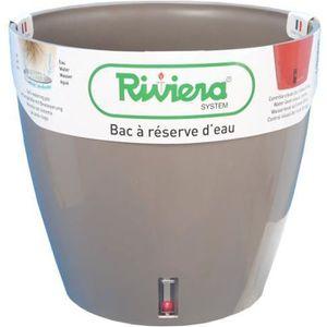 JARDINIÈRE - BAC A FLEUR Riviera Pot de fleurs Eva New Round 26 Cm Beige