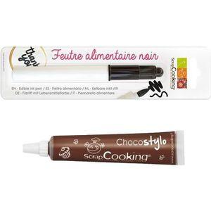 Stylo - Parure Stylo chocolat + Feutre alimentaire noir