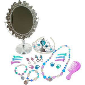 BIJOUX DÉGUISEMENT REINE DES NEIGES - Coffret bijoux et miroir sur pi