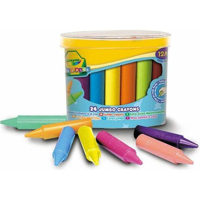CRAYOLA 24 maxi crayons à la cire