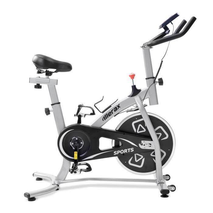 Vélo d'appartement avec console LCD Vélos d'intérieur Aérobic Sièges et Guidons réglables Vélo d'exercice Home GYM Training