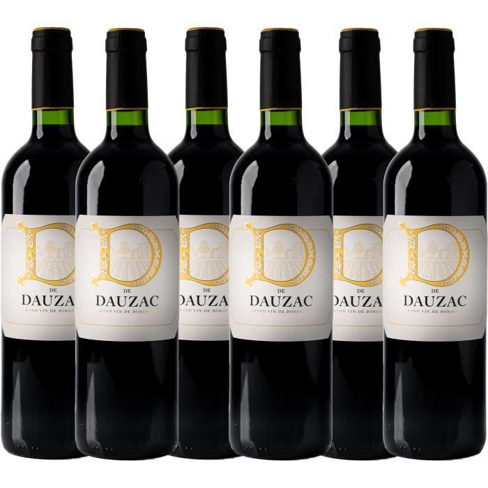 D de Dauzac 2016 - vin rouge - Bordeaux AOC rouge - lot de 6 bouteilles.
