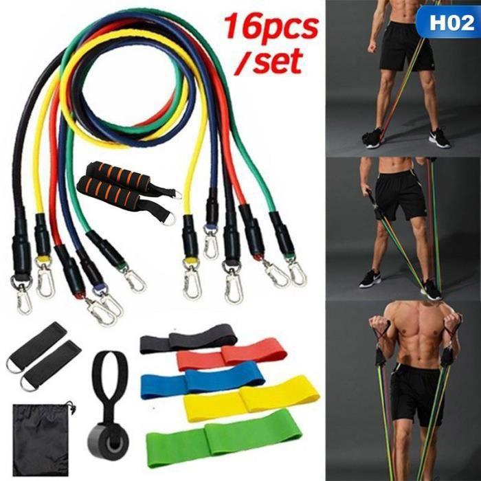 14-16 pièces bandes de résistance ensemble extenseur Yoga exercice Fitness Tubes en caoutchouc - Modèle: 02 - HSJSTLDC01533