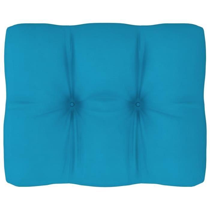 BINGO- Coussin d'extérieur pour canapé palette Bleu 50x40x12 cm#1682