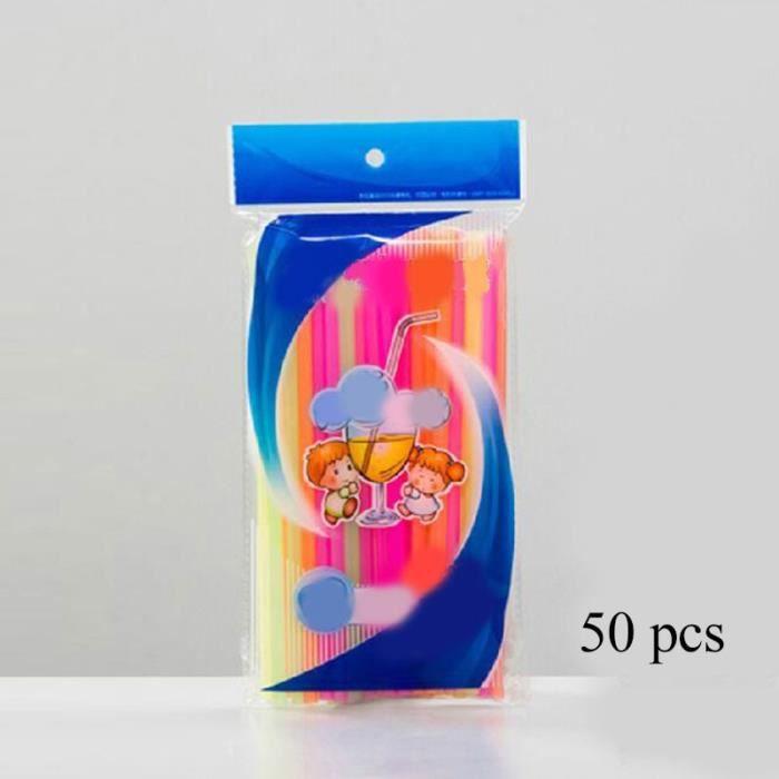 multicolor -Pailles en plastique jetables colorées, cuillère, outils à thé, écologiques, accessoires de Bar lavables, fournitures de